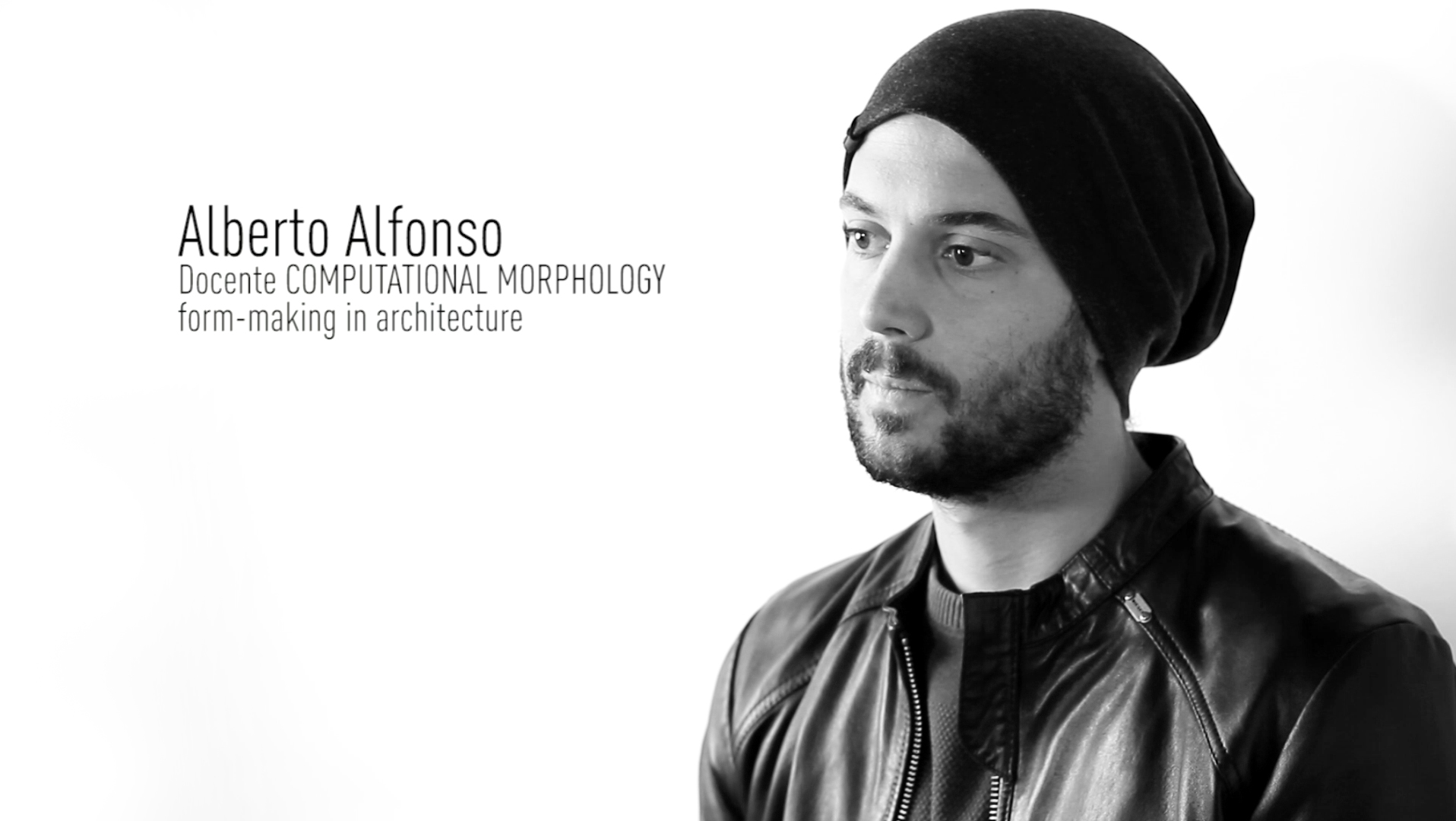 interview teaching iuav Alfonso Alberto