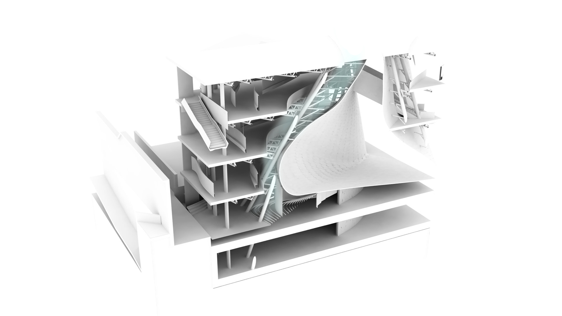 Urban Void Meis Competition Alfonso Architetti Rendering Plains