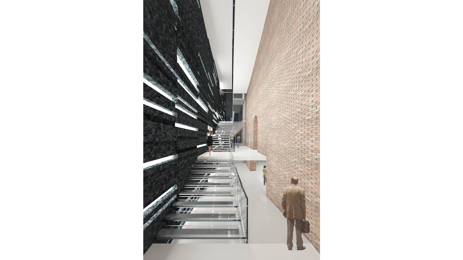 Urban Void Meis Competition Alfonso Architetti Rendering Stairs